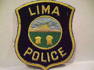 police patch  LIMA POLICE OHIO