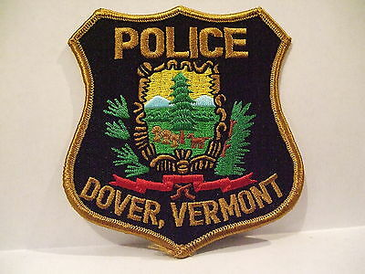 police patch  DOVER POLICE VERMONT