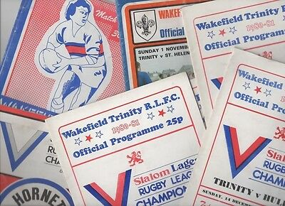 Collection of Wakefield Trinity programmes