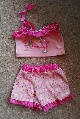 Build a Bear pink summer outfit - excellent condition