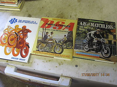 3 X Classic Motorcycle Books , Ajs And Bsa