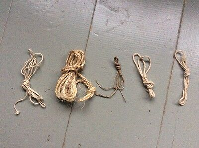 5x Small Quirky Bundles Vintage String Cord Twine - Use Art Craft Display