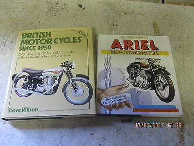 2 X Classic Motorcycle Books ,british Motorcycles,ariel