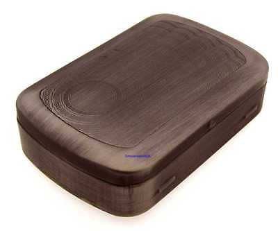 Mysmokingshop Designed Gunmetal Round Edge Tobacco Tin with Paper Slot NEW e