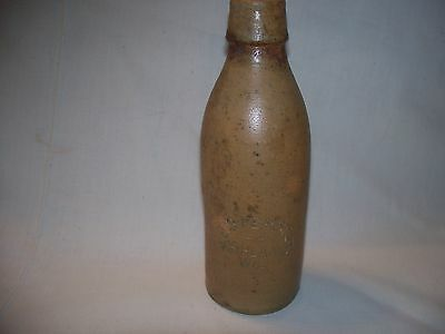 "Final Sale ! Antique Rare ""j.b. Ferstl Ashland Wis."" Clay/stoneware Bottle, Beer"