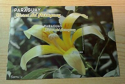 Paraguay 2013 Flowers M/S MNH per scan