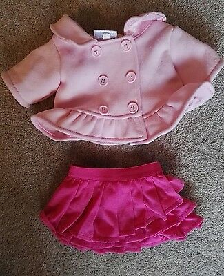 Build a Bear coat and skirt - excellent condition