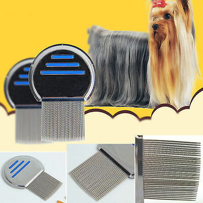 New lice nit comb get down to NITTY GRITTY stainless steel metal head and teeth