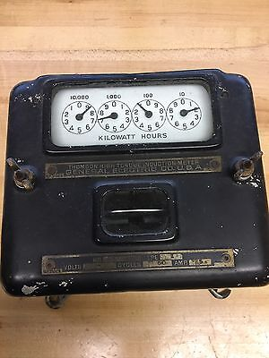 General Electric Thomson Antique Watt Hour Meter