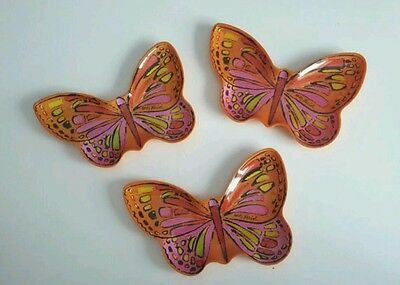 Vintage Andy Warhol pop art signed butterfly trays (3)