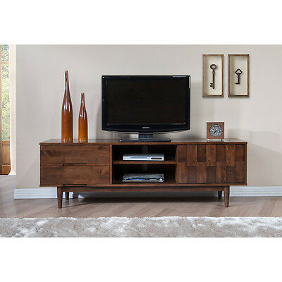Tv Stand Mid Century Modern Entertainment Center 70 In Media Cabinet Furniture 3