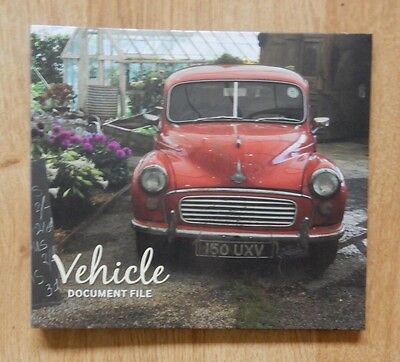KTWO Vehicle Document File - new & unused - Morris Minor on cover great present