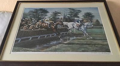 Framed Limited Edition Print. Desert Orchids  Whitbread 45/350 Signed