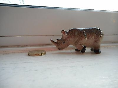 Rhinoceros /rhino- Beautiful  Pottery/ceramic - Cute  Miniature Rhino