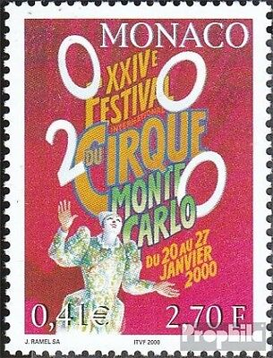 Monaco 2476 (complete.issue.) unmounted mint / never hinged 1999 circus festival
