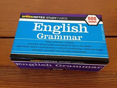 SparkNotes 600 Study Flashcards English Grammar Study Cards Homeschoolers