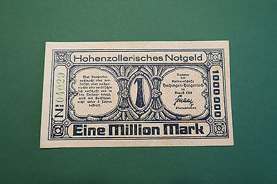 Notgeld, Hohenzollern, Hechingen, Haigerloch, 1 Million Mark