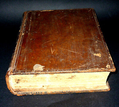 Large 19th.C.Holy Bible,English.Birth Records Austin/Faulkener Family Wales