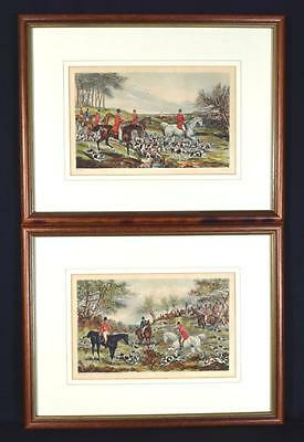 Victorian Lithos of Fox Hunting, C.1850, H Alken, J Harris, Framed