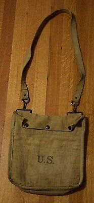 WWI 1918 US Army Gas Mask Bag Grenade Pouch Field Bag G.P.I. & Co 8-18 WW1