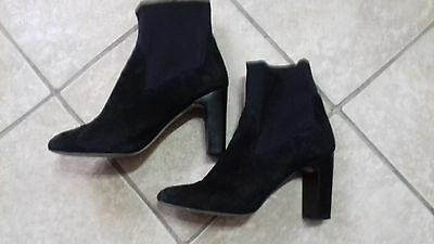 ZARA BLACK SUEDE ANKLE BOOTS size 41/8