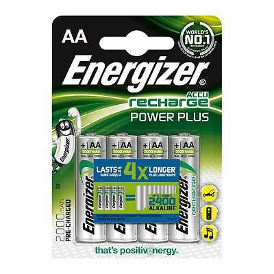 4 Piles rechargeable Pack Energizer Power Plus Precharged AA LR6 Accu 2000MAH