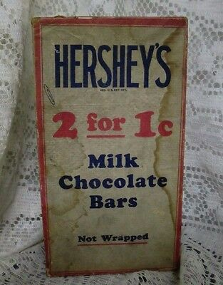 Vintage Hershey's Milk Chocolate Bars Empty Box 2 for 1 cent Hershey PA Store Co