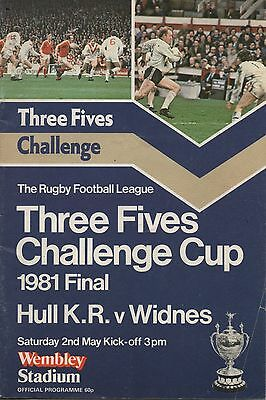 1981 Hull Kingston Rovers v Widnes  (Challenge Cup Final)