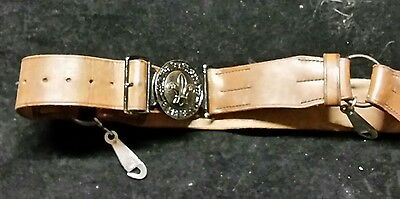 Vintage 1940s Rover Scout Belt Leather John Leckie & Co