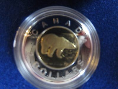 Canada $2 POLAR BEAR 1996 Proof Coin Bimetal Gold & Silver in presentation box