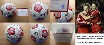 2009-10 Liverpool Official Football Signed by Squad with Official COA (10072)