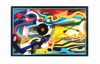 Mango by TPMcKEE Modern Abstract Original 3D Wood Mid Century Art MCM Picasso