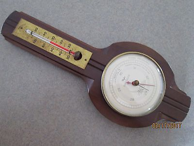 Vintage Mid Century Modern Wall Taylor Thermometer Barometer