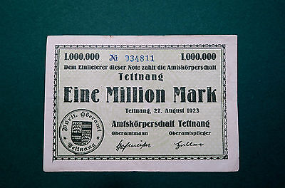 Notgeld, Tettnang, Amtskörperschaft, 1 Million Mark, 1923