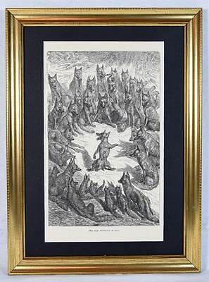 1 Ernest Griset Engraving, Aesop's Fables 1868 The Fox Without a Tail