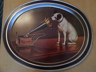 Victor His Masters Voice Victor Metal Serving Plate Platter wall art Nipper