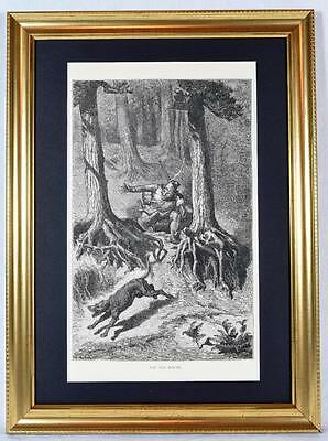 1 Ernest Griset Engraving The Old Hound, Aesop's Fables 1868