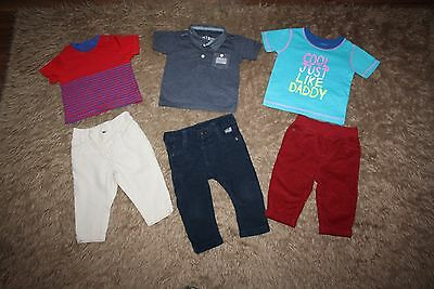 Baby Boy's T-shirts & Trousers Bundle Age: 3-6 Months