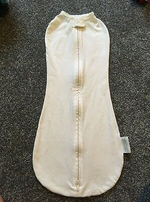 Woombie Swaddle. Big Baby 14-19lbs. Ivory.