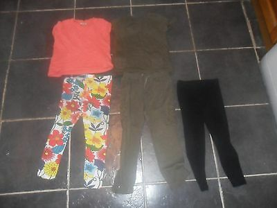 next girls tops and leggings age 3-4