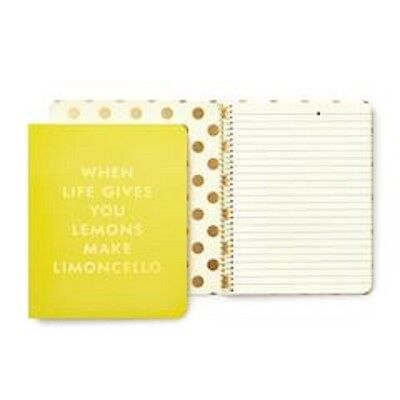 Nwt Kate Spade Concealed Spiral Notebook - Limoncello- New Pattern For 2017