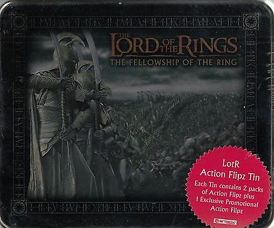 Lord Rings Fellowship Of The Ring 2003 Collectible Action Flipz Tin 2 Packs