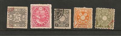 Japan  - 5 early stamps in good condition