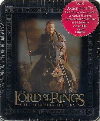 Lord Rings Return Of The King 2003 Collectible Action Flipz Tin Uk Aragorn Horse