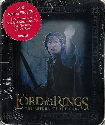 Lord Rings Return Of The King 2003 Collectible Action Flipz Tin & Set Frodo