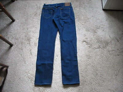 Vintage Early To Mid 1980s Blue Lee Rider Jeans W 33 L 36