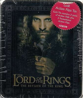 Lord Rings Return Of The King 2003 Collectible Action Flipz Tin Aragorn Sword
