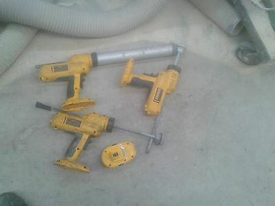 1 lot of 3X DeWALT DC547  18V Cordless 300ml Adhesive Dispenser working 4 PARTS