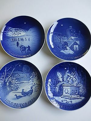 4 Bing & Grondahl Porcelain Christmas in Greenland plates 1970 1972 1977 1988