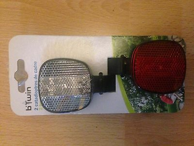 Set Of 2 Bike Bicycle Front And Rear Reflector Set
